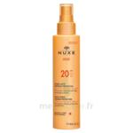 Spray Lacté Moyenne Protection  Spf20 Nuxe Sun150ml à Bordeaux