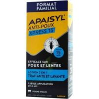 Apaisyl Anti-poux Xpress 15' Lotion Antipoux Et Lente 100ml+peigne à Bordeaux