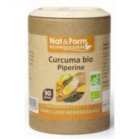 Nat&Form Eco Responsable Curcuma + Pipérine Bio Gélules B/90